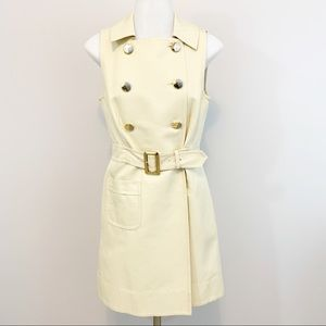 Marc by Marc Jacobs Sleeveless Trench Dress Cream